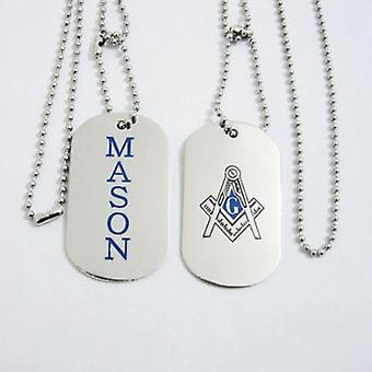 Mason tag freemason necklace