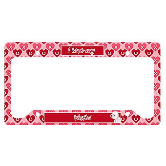 Carolines Treasures  LH9135LPF Westie Valentine's Love and Hearts License Plate