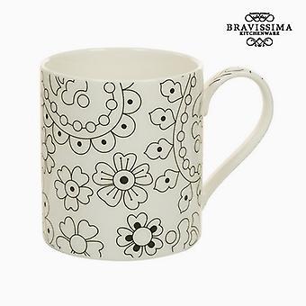 Cup Posliini Musta Beige - Keittiö's Deco Collection