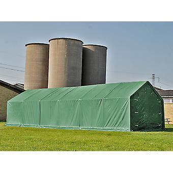 Lagerzelt PRO 7x14x3,8m PVC mit Dachfenster, Grün
