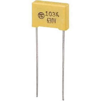 רכיבי טרו 1 pc (עם) חברי הכנסת הסרט רזה לקבל מוקדי להוביל 0.01 μF 630 V DC 5% 10 מ
