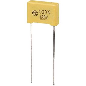 TRU مكونات 1 pc(s) MKS رقيقة فيلم مكثف الرصاص شعاعي 0.01 μF 630 V DC 5 % 10 مم (L x W x H) 13 × 4 × 9 مم