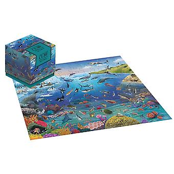 Sea Life Underwater Jigsaw Puzzle 100 Piece Puzzle Cube