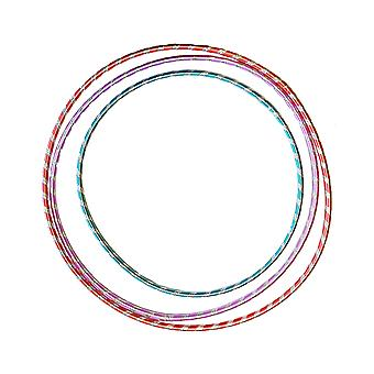 3 x Glitter Hula Hoops Kids Sport Children Activity Garden Games Play Adult