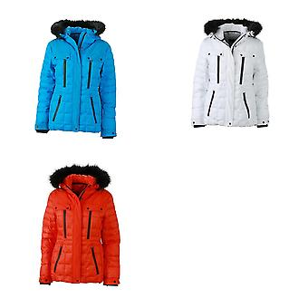 James and Nicholson Womens/dames rembourrées touchent fixation Wintersport Jacket