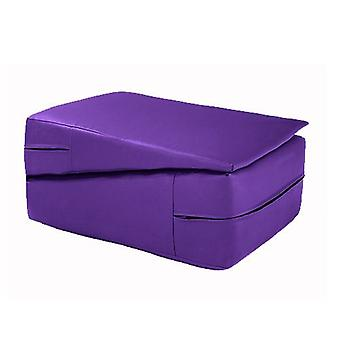 Fun!ture Faux cuir Pliant Gymnastique Wedge Training Safety Crash Mat (Purple)