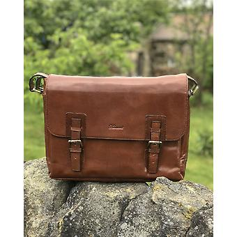 Ashwood Leather Satchel Laptop Bag - Natural Leather - Suitable For 17
