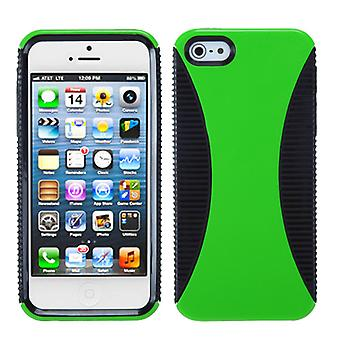 Asmyna Mixy Phone Case pour Apple iPhone 5s/5 - Vert/Noir