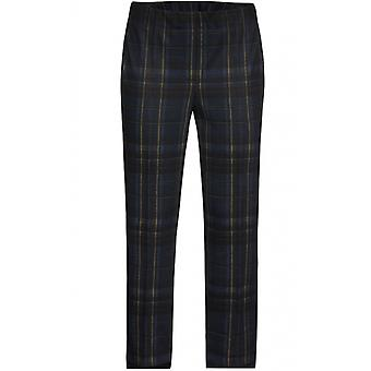Bianca Navy Check Trousers