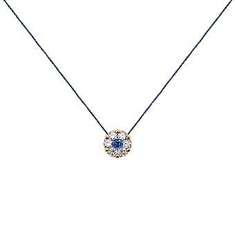 Ketting Duchess Full Diamond op Sapphire en 18K Gold, On Thread - Rose Gold, NavyBlue