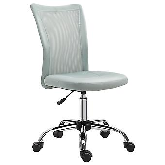 Vinseto Armless Office Chair Ergonomic Padded Height Adjustable w/ Mesh Back 5 Wheel Base Swivel Comfortable Moveable Home Seat Work Grey