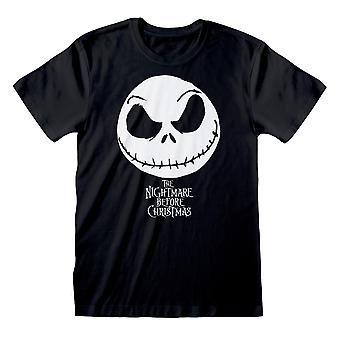 Disney The Nightmare Before Christmas Jack Face Men's T-Shirt | Official Merchandise