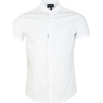 Armani Poplin Taped Detail Shirt