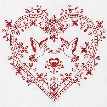 Panna Cross Stitch Kit - Heart with Doves