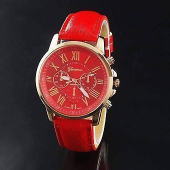 Orologio classico geneva in oro rosa in rosso