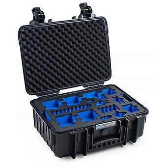 B&W GoPro Case Type 4000 para GoPro HERO 5/6/7, Negro Con inserto de espuma