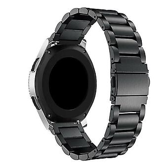 Samsung Galaxy Watch Active Band 42 46mm ruostumaton teräs hihna [42 mm, musta]