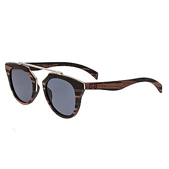 Earth Wood Ceira Polarized Sunglasses - Brown Stripe/Black