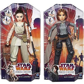2 kpl Star Wars Jyn Erso & Rey ja Jakku Toiminta Kuva/ Nuket 28cm