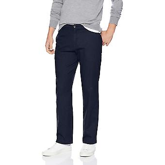 Essentials Men's Relaxed-Fit Casual Stretch Khaki, Navy, 40W x 28L