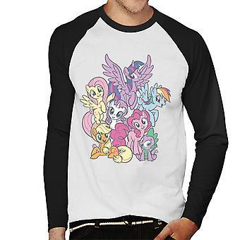 My Little Pony Spike And The Squad Miehet&s Baseball Pitkähihainen T-paita