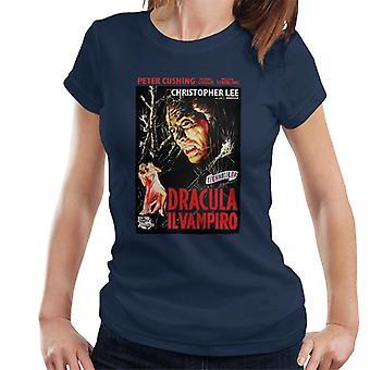 Hammer Horror Filme Dracula italienischen Film Poster Frauen's T-Shirt