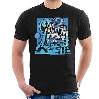 Star Wars R2D2 Blast Off Men ' s T-shirt