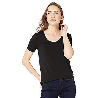 Brand - Daily Ritual Women's Jersey Short-Sleeve Scoop Neck Shirt, bla...
