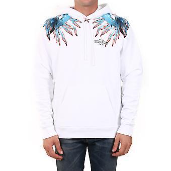 Marcelo Burlon Cmbb007f20fle0100140 Heren's White Cotton Sweatshirt