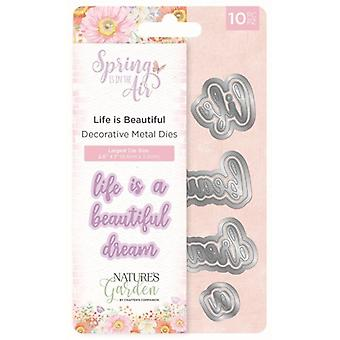 Crafter's Companion Spring is in the Air Metal Die Life is Beautiful