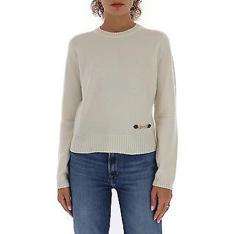 Gucci 628413xkbh99791 Damen's Weißer Kaschmir Pullover