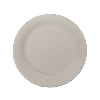 10 PCS Disposable Round Paper Plates 7 Inch White