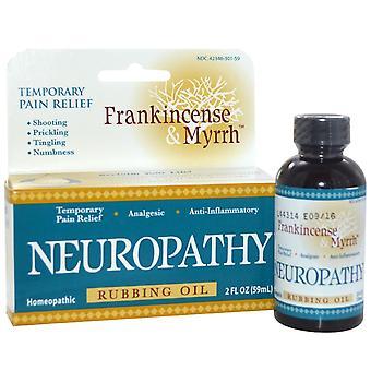 Frankincense & Myrrh, Frankincense & Myrrh, Neuropathy, Rubbing Oil, 2 fl oz (59