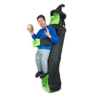 Inflatable Lift You Up Witch Halloween Costume Trick Or Treat One Size Fits All Adults