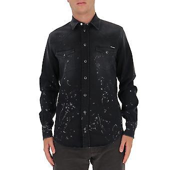 Dolce E Gabbana G5ex7dg8co5s9001 Männer's schwarze Baumwolle Shirt