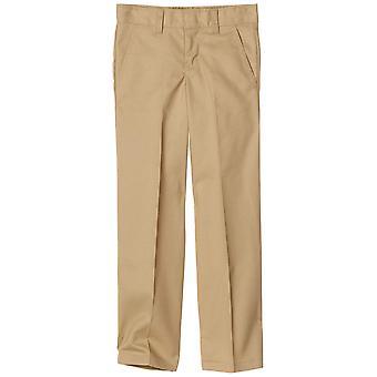 Dickies Big Boysă Flex Waist Flat Front Pant, Kaki, 18