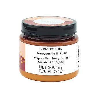 Brightside Honeysuckle and Rose Body Butter with Shea Butter for Soft Skin 200ml