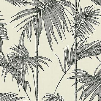 Lola Paris Palm Motiv Tapete Creme / Silber AS Kreation 36919-2