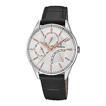 Festina chronograph watch for Analog Quartz Men with Cowhide Bracelet F16974/1