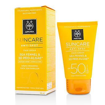 Apivita Suncare Anti-Spot Face Cream Sea Fennel & 3D Pro-Alage SPF 50 50ml/1.7oz