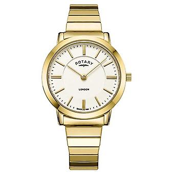 Rotary Womens London Gold Stainless Steel Expanding Bracelet LB00766/03 Watch