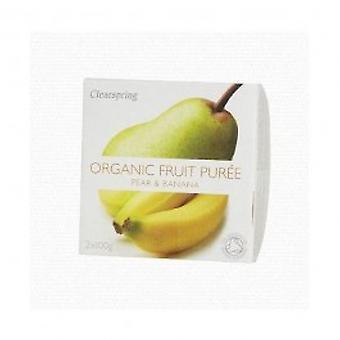 Clearspring - Fruit Puree Pear/Banana 2 X 100g