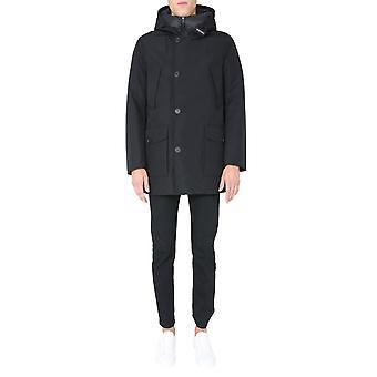 Woolrich Woou0336mrut2348100 Men's Black Polyester Outerwear Jacket