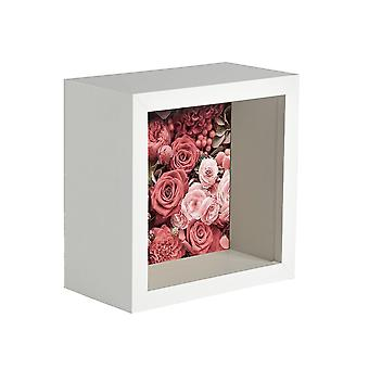 Nicola Frühling Box Fotorahmen - 4 x 4 Quadratische Acrylrahmen - weiß