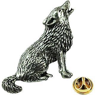 Krawatten Planet heulen, Baying Wolf Englisch Zinn Anstecknadel Abzeichen