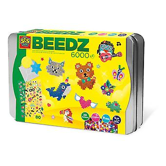 SES Creative Children's Beedz Sorting Box Mosaic Set 6000 Iron-on Beads Mix 6139