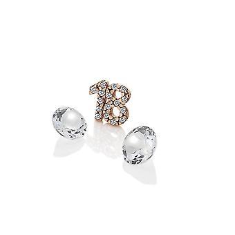 Diamantes calientes Anais Anais oro rosa plateado plata de ley 18 encanto AC058