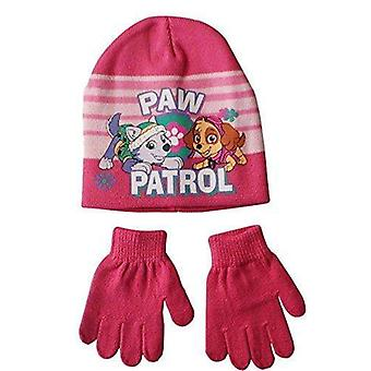 Nickelodeon kız pençe devriye şapka ve eldiven seti