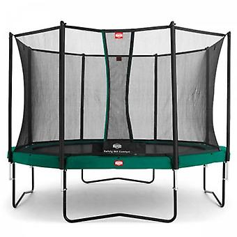BERG green champion 380 12.5ft trampoline + safety net comfort