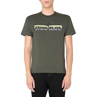 Stone Island 73152ns83v0059 Heren's Green Cotton T-shirt
